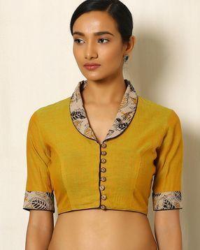 Kalamkari Saree Work Blouse Designs (212)