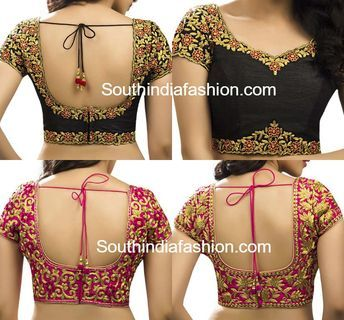 Kalamkari Saree Work Blouse Designs (215)