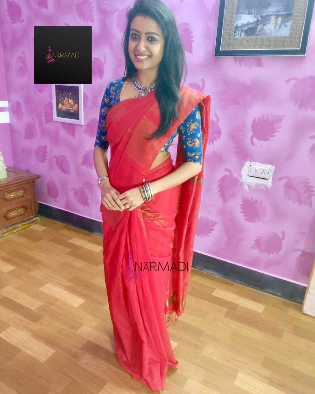 Kalamkari Saree Work Blouse Designs (216)