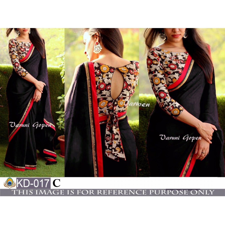 Kalamkari Saree Work Blouse Designs (22)