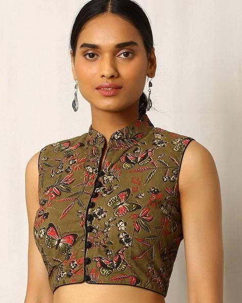 Kalamkari Saree Work Blouse Designs (220)