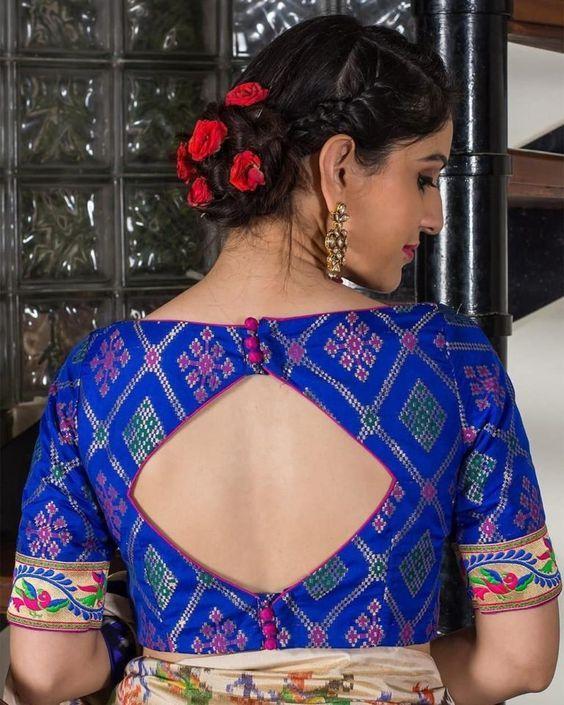 Kalamkari Saree Work Blouse Designs (225)