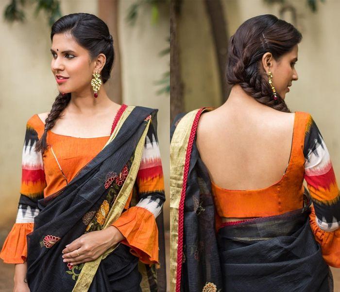 Kalamkari Saree Work Blouse Designs (23)