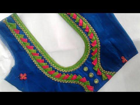 Kalamkari Saree Work Blouse Designs (230)
