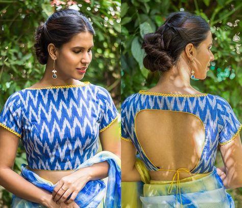 Kalamkari Saree Work Blouse Designs (30)