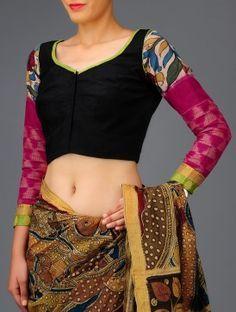 Kalamkari Saree Work Blouse Designs (31)