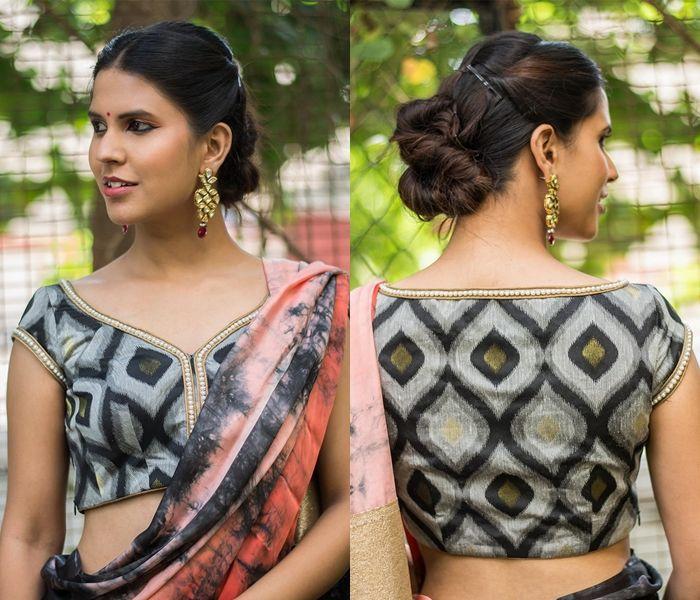 Kalamkari Saree Work Blouse Designs (33)