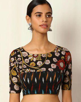 Kalamkari Saree Work Blouse Designs (34)