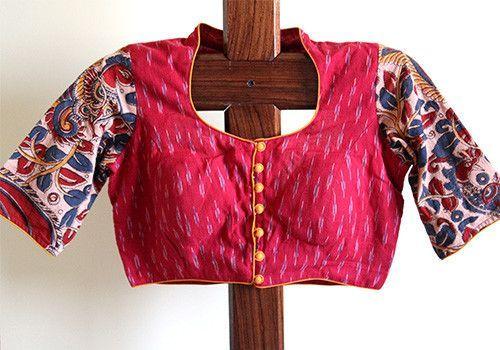 Kalamkari Saree Work Blouse Designs (36)