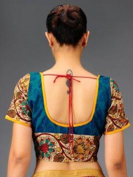 Kalamkari Saree Work Blouse Designs (37)