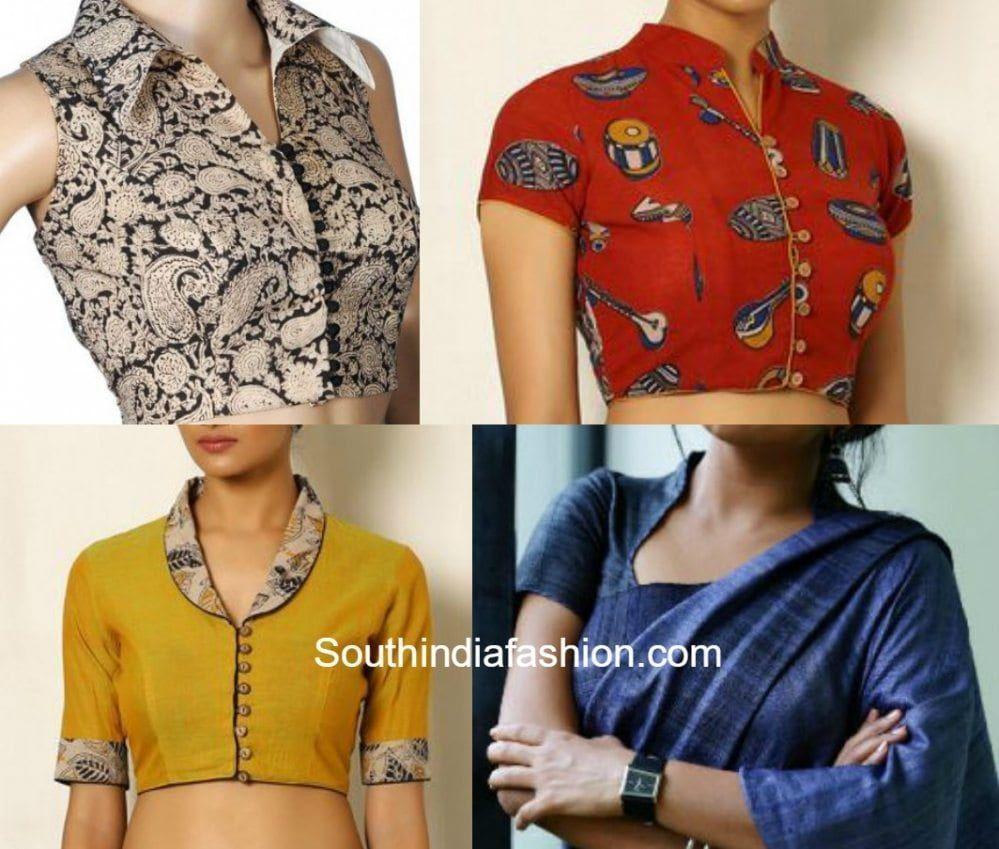Kalamkari Saree Work Blouse Designs (38)