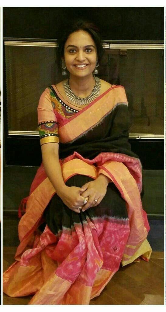 Kalamkari Saree Work Blouse Designs (39)