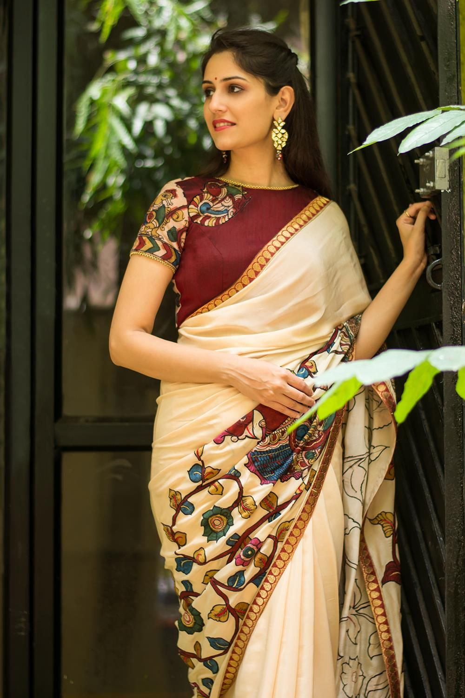 Kalamkari Saree Work Blouse Designs (4)