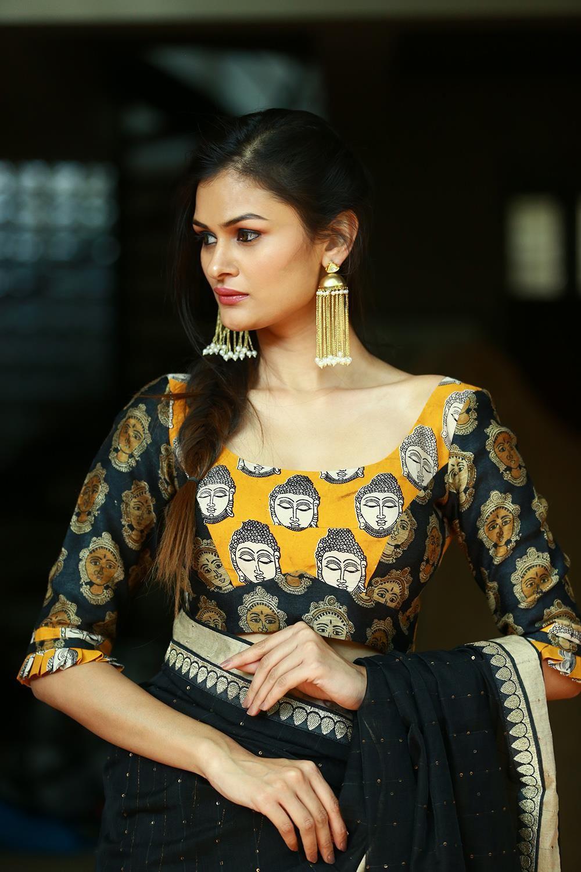 Kalamkari Saree Work Blouse Designs (44)
