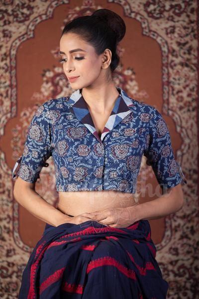 Kalamkari Saree Work Blouse Designs (45)