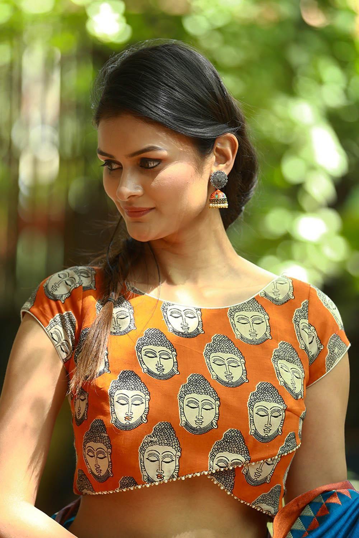 Kalamkari Saree Work Blouse Designs (46)