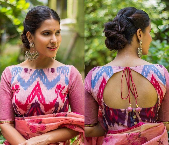 Kalamkari Saree Work Blouse Designs (47)