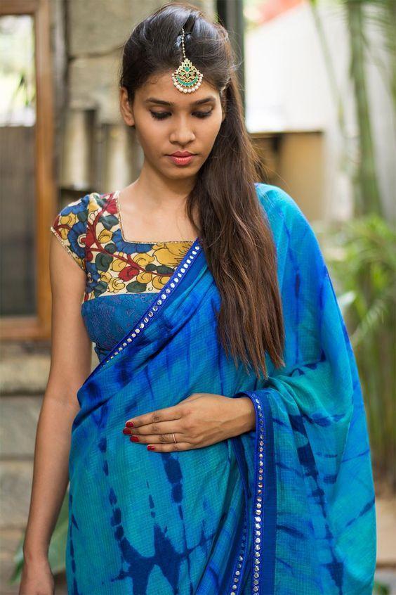 Kalamkari Saree Work Blouse Designs (48)