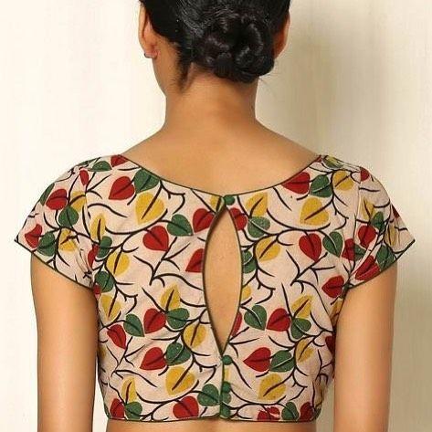 Kalamkari Saree Work Blouse Designs (5)
