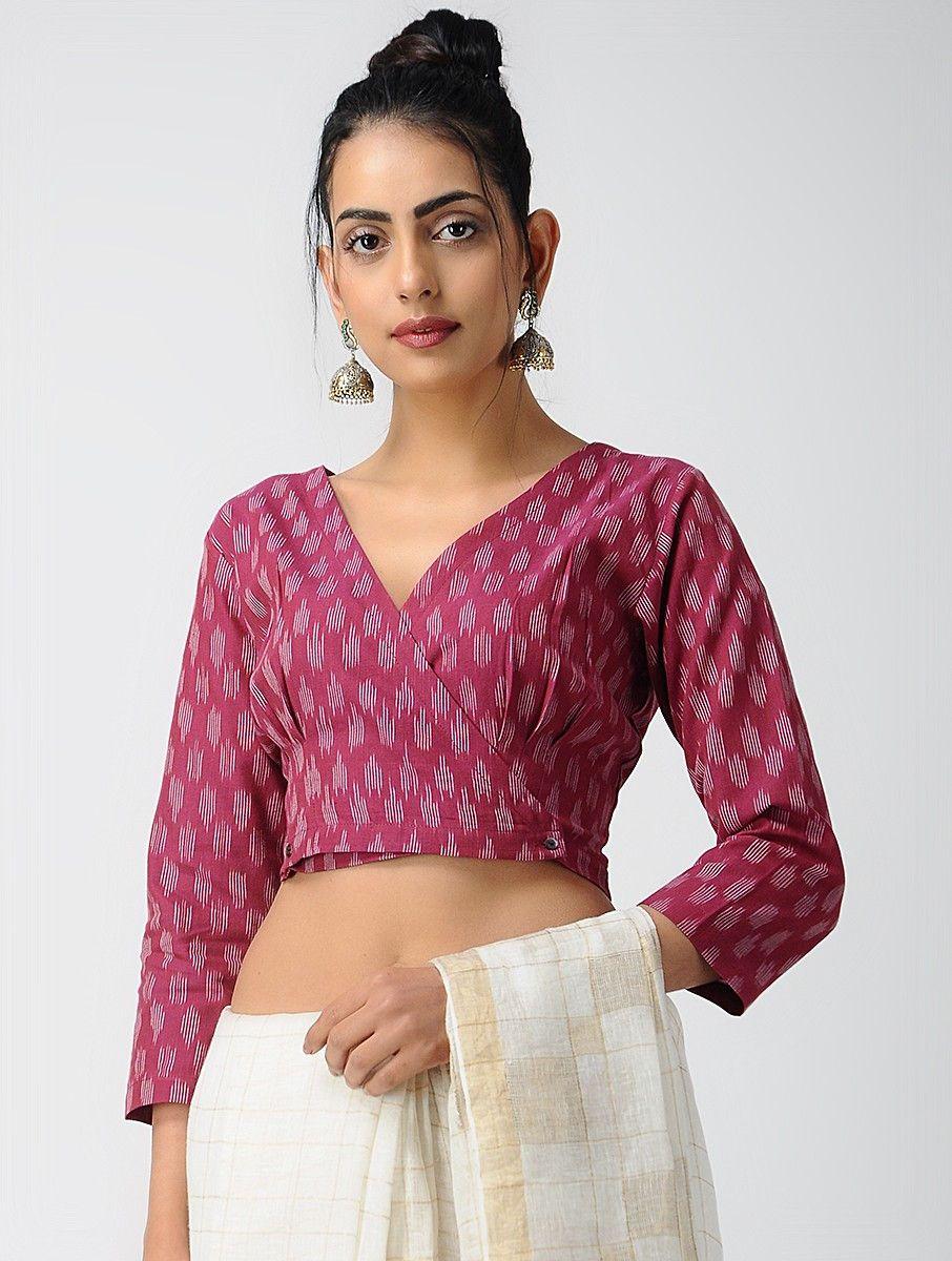 Kalamkari Saree Work Blouse Designs (51)