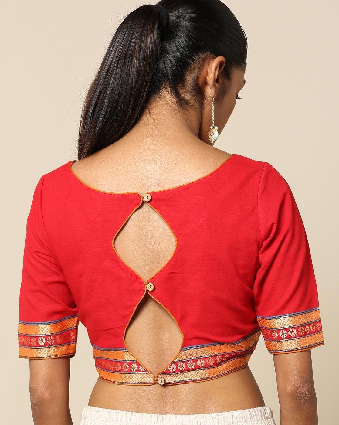 Kalamkari Saree Work Blouse Designs (55)