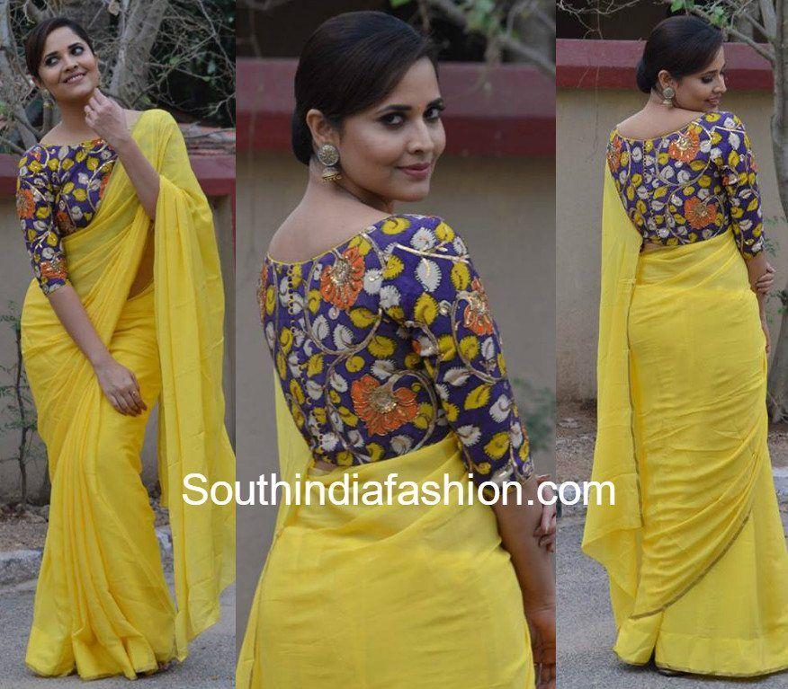 Kalamkari Saree Work Blouse Designs (59)