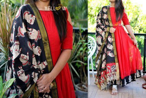 Kalamkari Saree Work Blouse Designs (6)