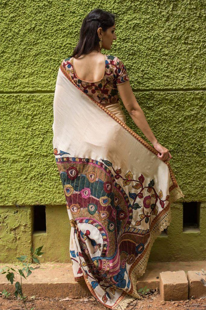 Kalamkari Saree Work Blouse Designs (63)