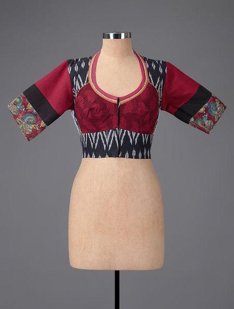 Kalamkari Saree Work Blouse Designs (65)