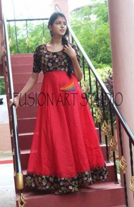 Kalamkari Saree Work Blouse Designs (66)