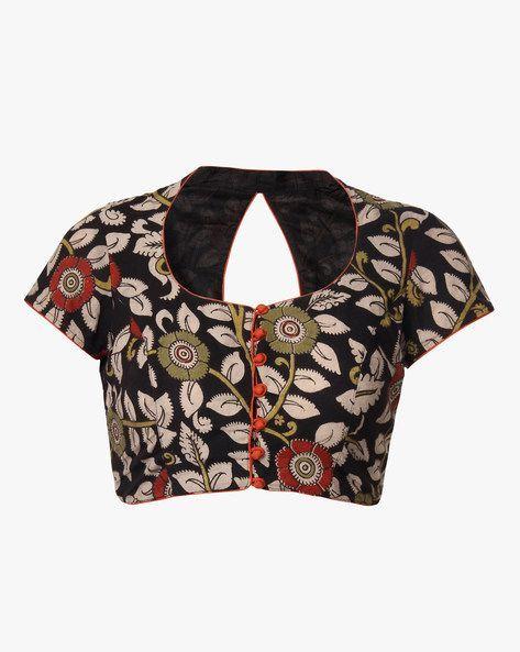 Kalamkari Saree Work Blouse Designs (67)