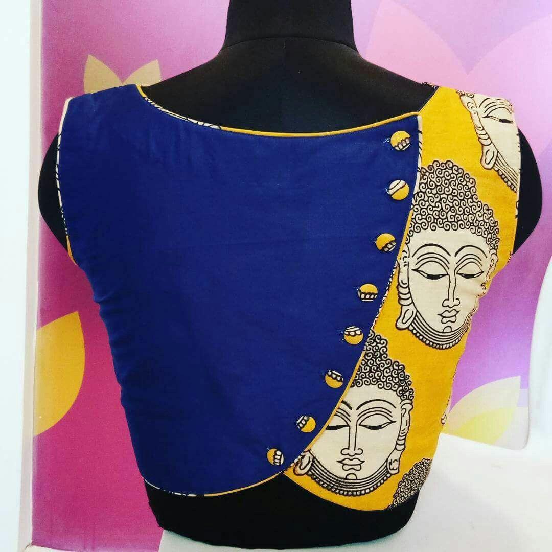 Kalamkari Saree Work Blouse Designs (7)