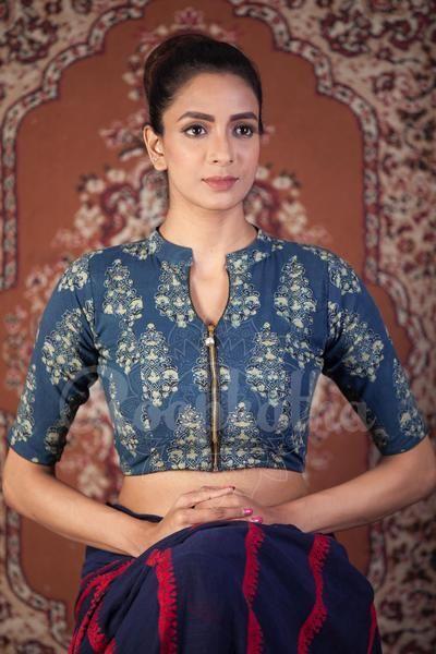 Kalamkari Saree Work Blouse Designs (72)
