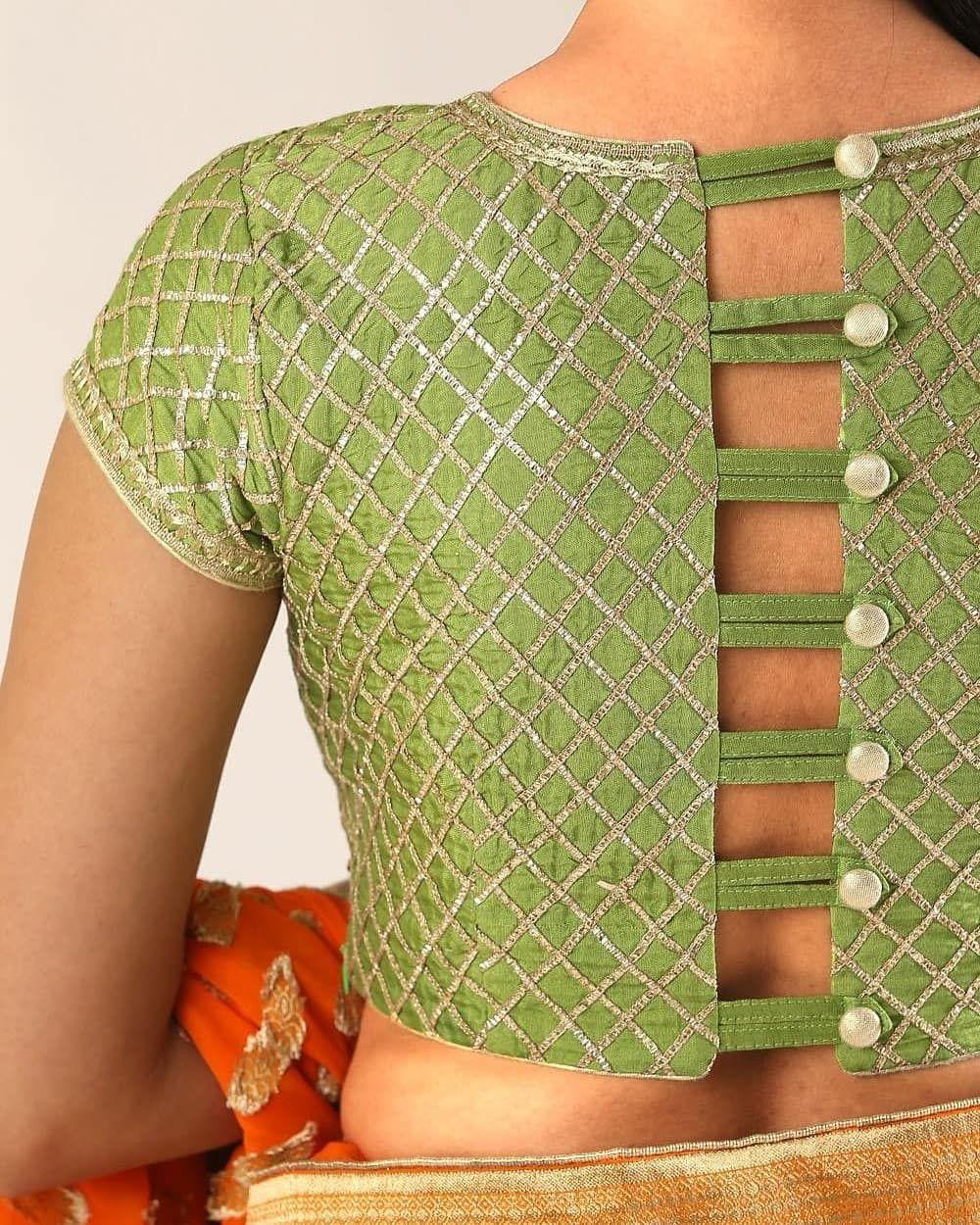Kalamkari Saree Work Blouse Designs (73)