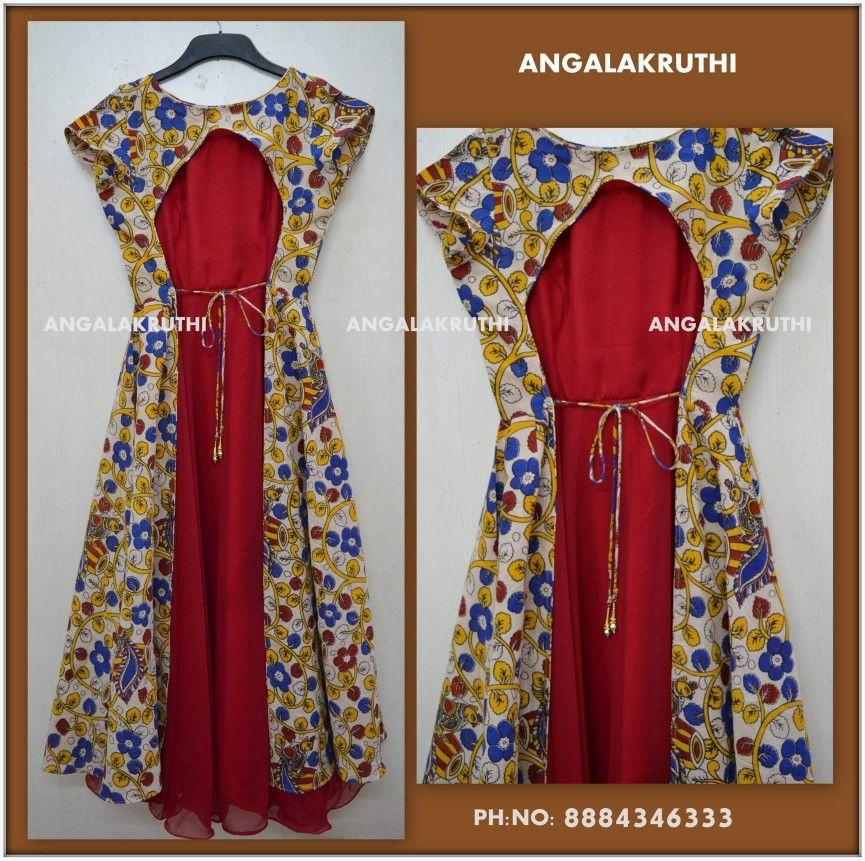 Kalamkari Saree Work Blouse Designs (74)