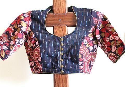 Kalamkari Saree Work Blouse Designs (75)