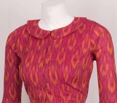 Kalamkari Saree Work Blouse Designs (83)
