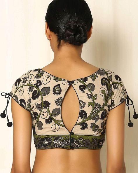 Kalamkari Saree Work Blouse Designs (84)