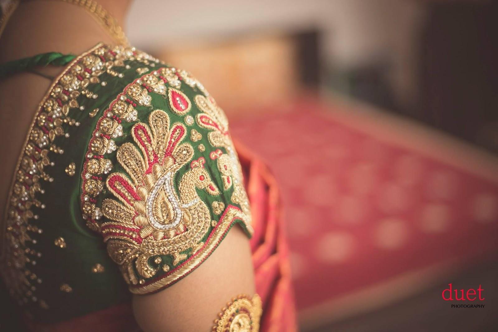 Kalamkari Saree Work Blouse Designs (86)