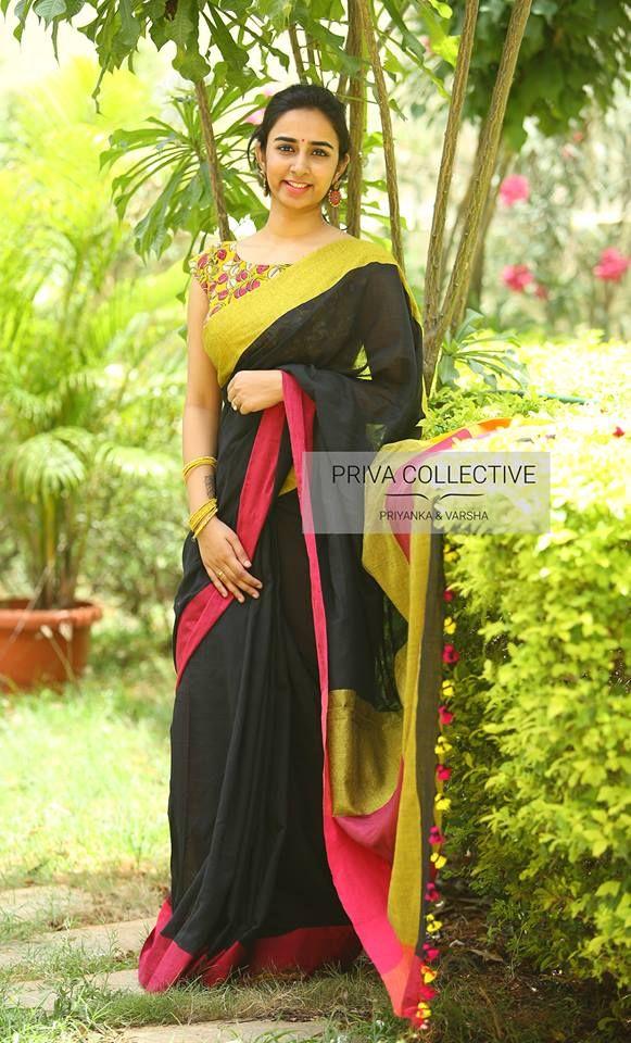 Kalamkari Saree Work Blouse Designs (89)