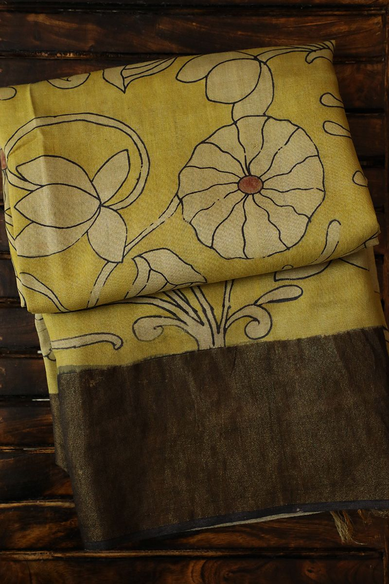 Kalamkari Saree Work Blouse Designs (93)