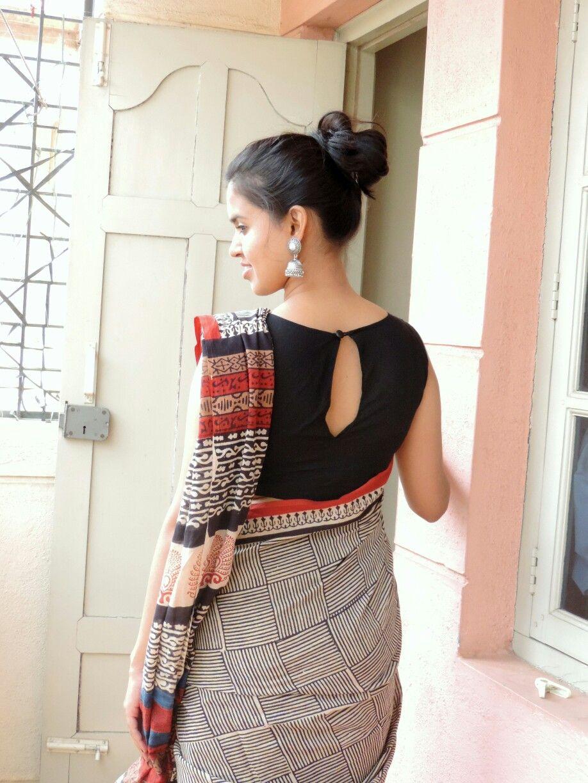 Kalamkari Saree Work Blouse Designs (97)