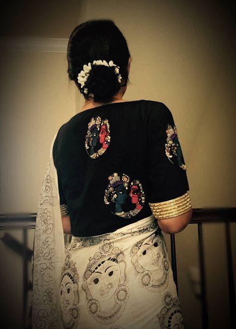 Kalamkari Saree Work Blouse Designs (98)