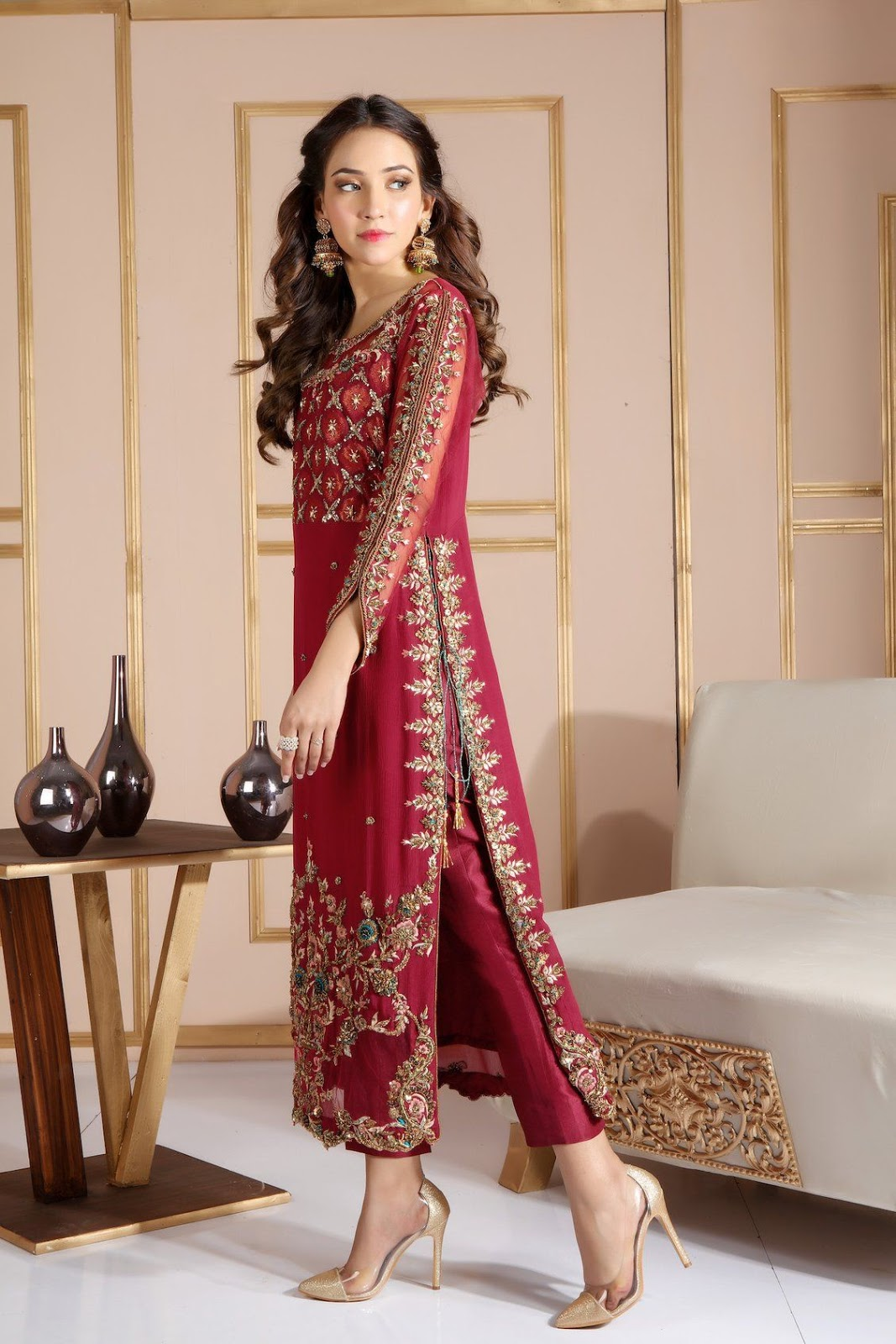Party Wear Heavy Kurtis For Marriage (107)