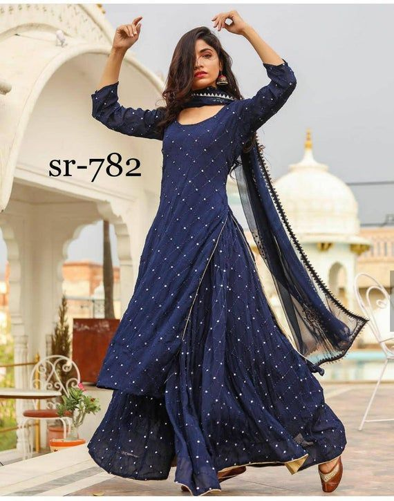 Party Wear Heavy Kurtis For Marriage (108)