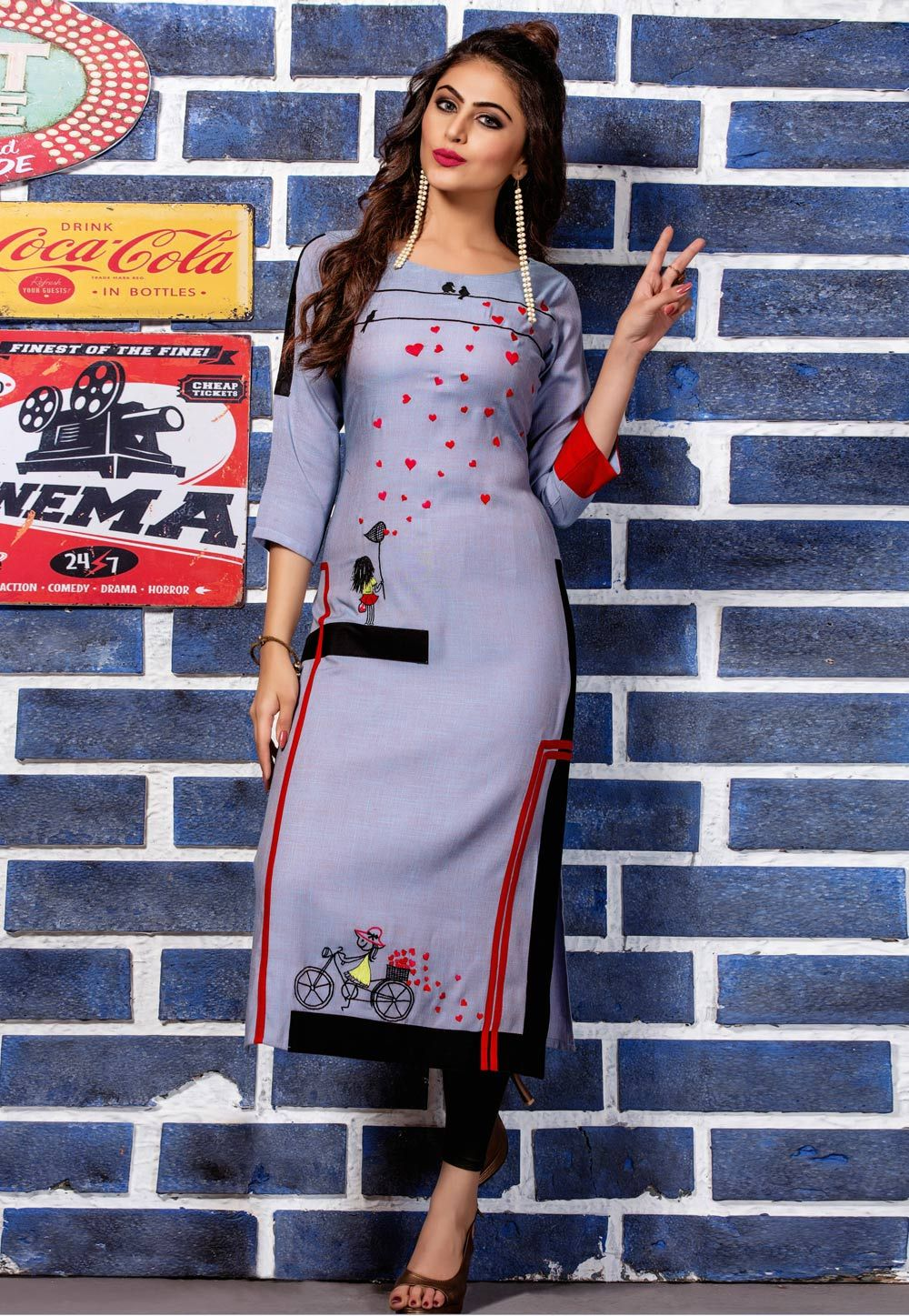 Party Wear Heavy Kurtis For Marriage (111)