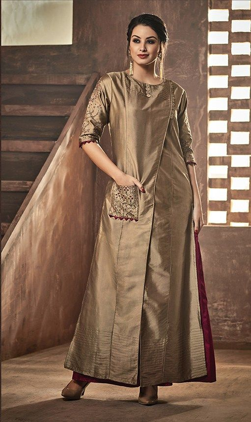 Party Wear Heavy Kurtis For Marriage (115)