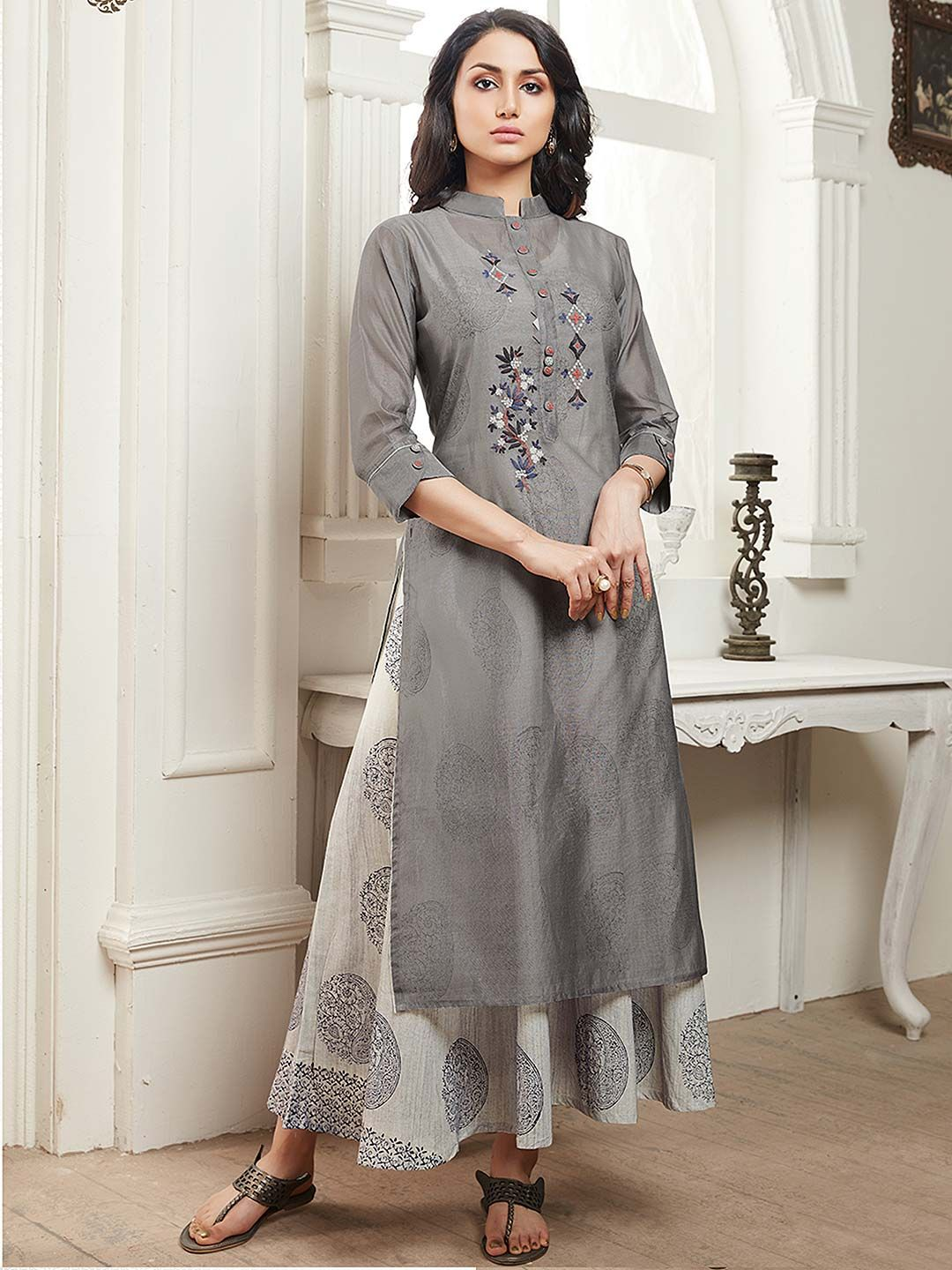 Party Wear Heavy Kurtis For Marriage (162)