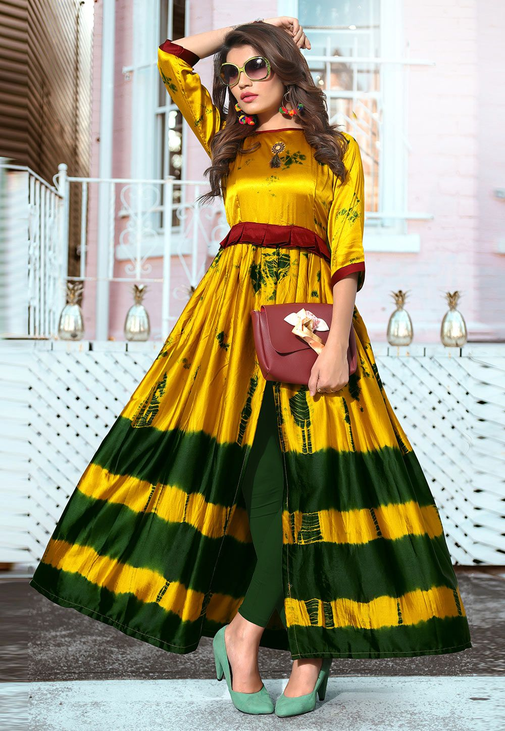 Party Wear Heavy Kurtis For Marriage (194)
