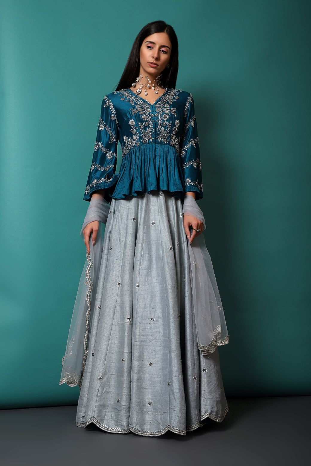 Party Wear Heavy Kurtis For Marriage (213)